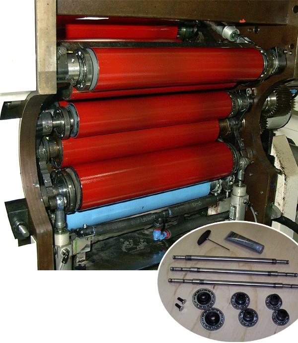 Form roller adjustment kit for Nilpeter M-3300